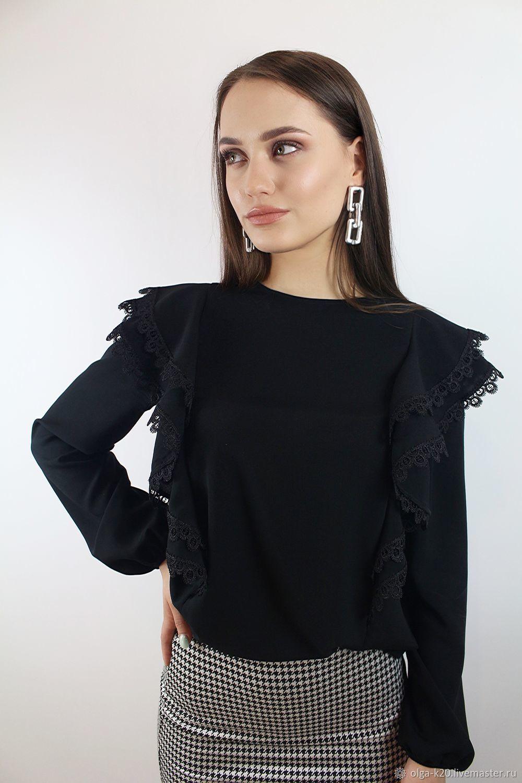 Блуза с двойными воланами, Блузки, Томск,  Фото №1