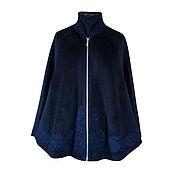 Одежда handmade. Livemaster - original item Cashmere poncho, black. Handmade.