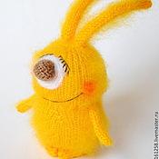 """Куклы и игрушки ручной работы. Ярмарка Мастеров - ручная работа Зайчик солнечный """"Лучик"""" ( Вязаный зайчик-одуванчик). Handmade."""