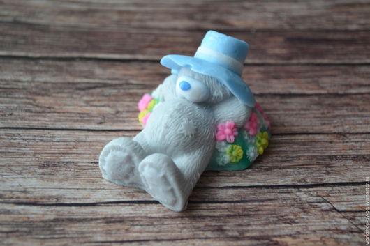Мыло ручной работы. Ярмарка Мастеров - ручная работа. Купить Мишка Тедди на полянке. Handmade. Комбинированный, мыло ручной работы