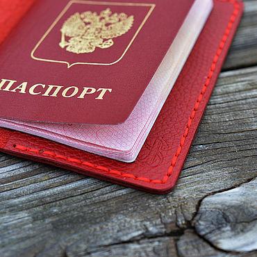 Канцелярские товары ручной работы. Ярмарка Мастеров - ручная работа Обложка на паспорт кожаная. Handmade.