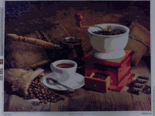 Натюрморт ручной работы. Ярмарка Мастеров - ручная работа. Купить Алмазная мозаика. Handmade. Коричневый, алмазная мозаика, кухня