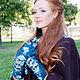 """Варежки, митенки, перчатки ручной работы. Перчатки""""Paradise blue petunias"""". Oksana Sergunicheva(Рrince). Ярмарка Мастеров. Перчатки купить, осенние мотивы"""