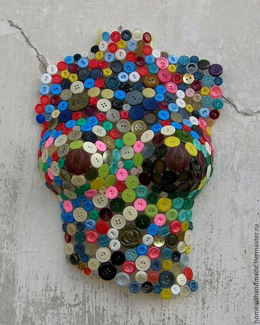 Элементы интерьера ручной работы. Ярмарка Мастеров - ручная работа. Купить Арт-объект полуторс женский из пуговиц. Handmade. Комбинированный