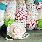 Для дома и интерьера ручной работы. Ярмарка Мастеров - ручная работа Лоскутное зефирное одеялко бом-бон. Handmade.