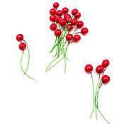 Материалы для творчества handmade. Livemaster - original item Holly berries for Decoration 50 pcs. Handmade.