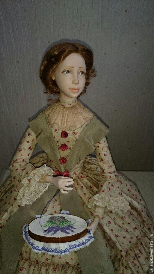 Коллекционные куклы ручной работы. Ярмарка Мастеров - ручная работа. Купить Кукла из запекаемого пластика Аннушка. Handmade. Оливковый
