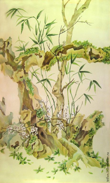 бамбук батик фото картин два