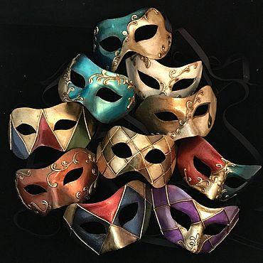 Для дома и интерьера ручной работы. Ярмарка Мастеров - ручная работа Маски венецианские Карнавал (костюмные полумаски). Handmade.