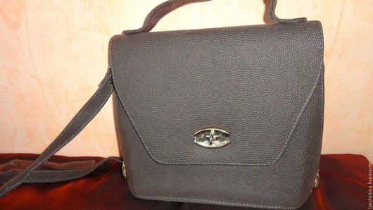 Винтажные сумки и кошельки. Ярмарка Мастеров - ручная работа. Купить Винтажная сумка.. Handmade. Коричневый, винтажный стиль, сумка из кожи