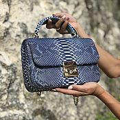Сумки и аксессуары handmade. Livemaster - original item Marisa Python leather handbag. Handmade.