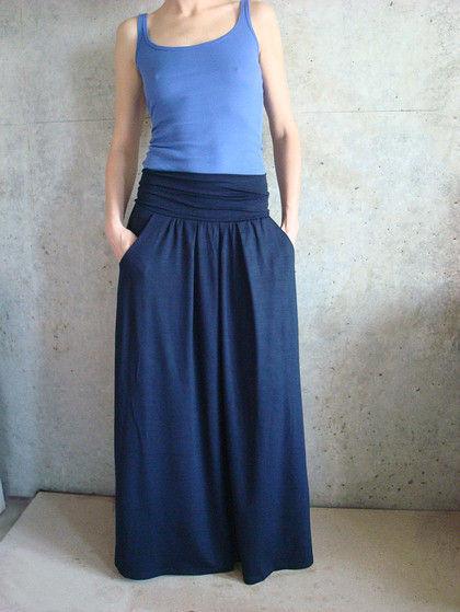 Длинная трикотажная юбка своими руками