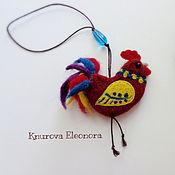 Подарки к праздникам ручной работы. Ярмарка Мастеров - ручная работа Петушок - валяная елочная игрушка. Handmade.