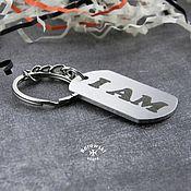 Сумки и аксессуары handmade. Livemaster - original item Keychain-token with deep engraving-stainless steel. Handmade.