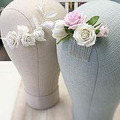 Свадебный салон ручной работы. Ярмарка Мастеров - ручная работа Гребень с пионом и розами. Handmade.