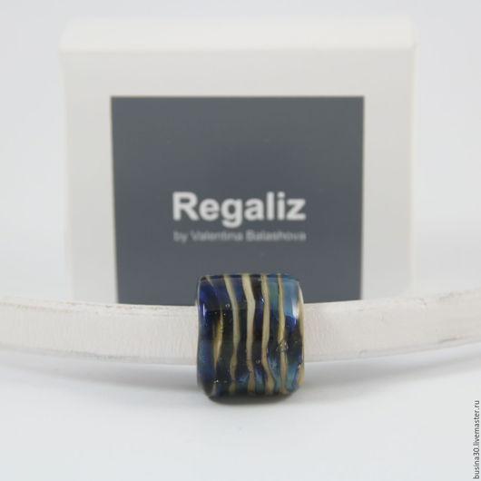 Для украшений ручной работы. Ярмарка Мастеров - ручная работа. Купить Бусина Regaliz RB-246. Handmade. Комбинированный, цветок