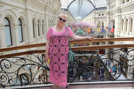 """Платья ручной работы. Ярмарка Мастеров - ручная работа. Купить платье """"Розовая мечта"""". Handmade. Летнее вязаное платье"""