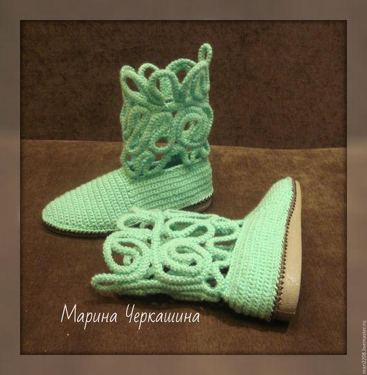 сапоги, сапожки, обувь, обувь ручной работы, сапоги на заказ, вязаные сапоги, туфли, вязаная обувь, обувь на заказ, ботинки, Марина Черкашина, сапоги для женщины, женские сапоги, вязание, подарок,