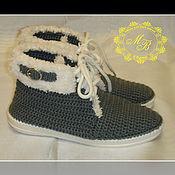 Обувь ручной работы handmade. Livemaster - original item Knitted shoes. Boots women`s. Knitted women shoes.. Handmade.