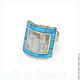Кольцо `Квадрат`  ARIEL - Алёна - МОЗАИКА  Москва  Размер кольца: 18.5  Кольцо с бирюзой  Кольцо с перламутром  Кольцо - мозаика с натуральными камнями