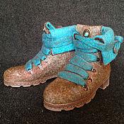 """Обувь ручной работы. Ярмарка Мастеров - ручная работа Валяные ботинки """"Весна в Париже"""". Handmade."""