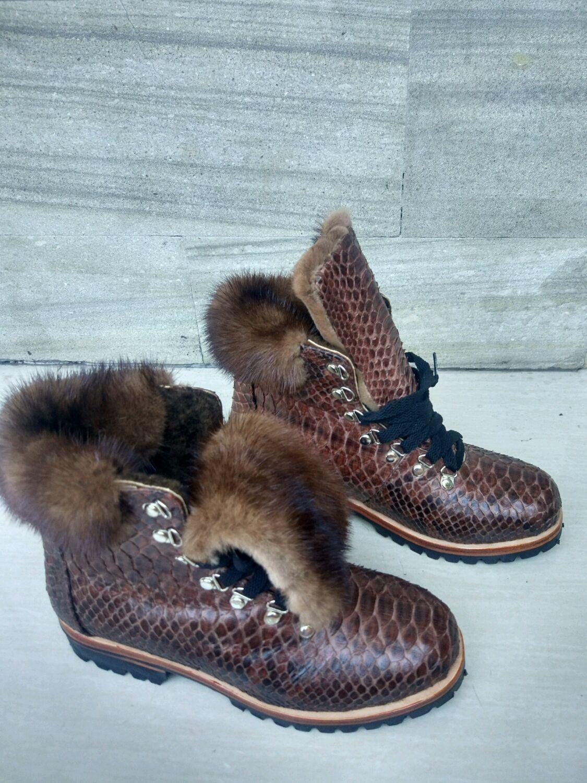 b2e0b47db420 Ботинки зимние из кожи питона – купить в интернет-магазине на Ярмарке  Мастеров с ...
