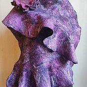Аксессуары handmade. Livemaster - original item Gossamer felted scarf Paris Twilight. Handmade.