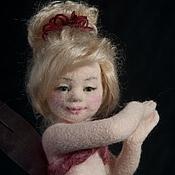 Куклы и игрушки ручной работы. Ярмарка Мастеров - ручная работа Авторская войлочная кукла Феечка Малиновый сироп. Handmade.