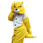 Субкультуры handmade. Livemaster - original item Costume kigurumi Fox yellow FUNKY YELLOW FOX KIGU. Handmade.
