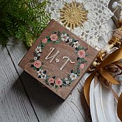 Свадебный салон ручной работы. Ярмарка Мастеров - ручная работа WoodenWed - свадебная шкатулка для обручальных колец. Handmade.