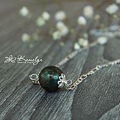 Украшения handmade. Livemaster - original item Mini necklace with natural labradorite