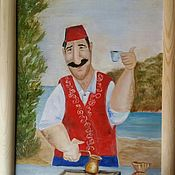 Картины и панно handmade. Livemaster - original item Picture Turkey Coffee Cup?! Oil on canvas. Handmade.