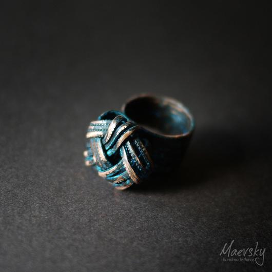 """Кольца ручной работы. Ярмарка Мастеров - ручная работа. Купить Медное кольцо """"4 стихии"""" №6, медь, украшение. Handmade."""