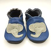 Работы для детей, handmade. Livemaster - original item Gray Elephant Baby Shoes, Kids` Shoes, Toddler Slippers. Handmade.