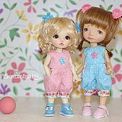 Куклы и игрушки ручной работы. Ярмарка Мастеров - ручная работа Комбинезоны для кукол 15-17 см. Handmade.