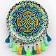 Mandala with tassels 'Emerald' decorative plate, Plates, Krasnodar,  Фото №1