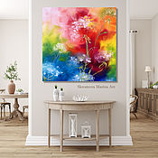 Картины и панно handmade. Livemaster - original item Painting with delicate flowers. Bright floral oil painting.. Handmade.