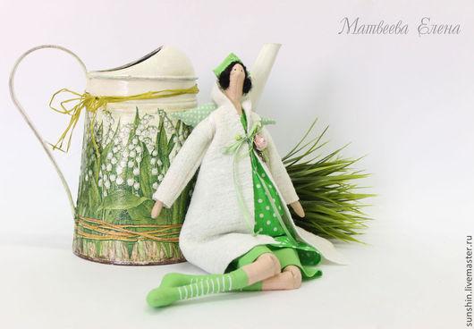 Куклы Тильды ручной работы. Ярмарка Мастеров - ручная работа. Купить Весенняя фея. Handmade. Ярко-зелёный, тильда ангел