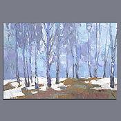 Картины и панно handmade. Livemaster - original item Crystal forest. Oil painting. Handmade.