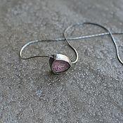 Украшения handmade. Livemaster - original item Tourmalinoma cut chain, silver. Handmade.