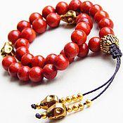 Фен-шуй и эзотерика handmade. Livemaster - original item Rosary Prince of darkness from coral. Handmade.