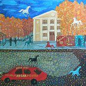 Картины и панно handmade. Livemaster - original item Paintings:acryl. The city sleeps. 90h60. Handmade.