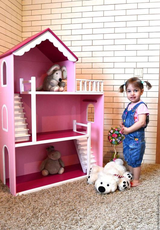 Кукольный дом ручной работы. Ярмарка Мастеров - ручная работа. Купить Кукольный домик. Handmade. Кукольный дом, для кукол, домик