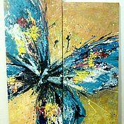 """Картины и панно ручной работы. Ярмарка Мастеров - ручная работа """"Бабочка"""" модульная картина. Handmade."""