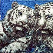 """Картины и панно ручной работы. Ярмарка Мастеров - ручная работа Коровая вышивка """"Белый дуэт"""". Handmade."""