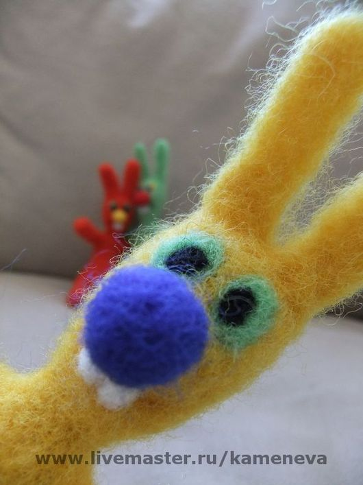 Игрушки животные, ручной работы. Ярмарка Мастеров - ручная работа. Купить Акак. Handmade. Заяц, кролик, валяный заяц