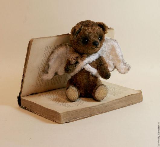 Мишки Тедди ручной работы. Ярмарка Мастеров - ручная работа. Купить Авторский Медведь Тедди Маленький ангел. Handmade. Коричневый