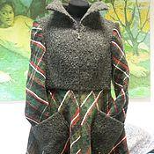 """Одежда ручной работы. Ярмарка Мастеров - ручная работа Пальто """"Зелено - красная клетка"""". Handmade."""
