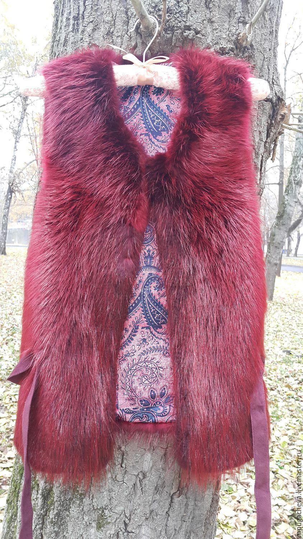 Меховая жилетка из меха бобра, Жилеты, Москва, Фото №1
