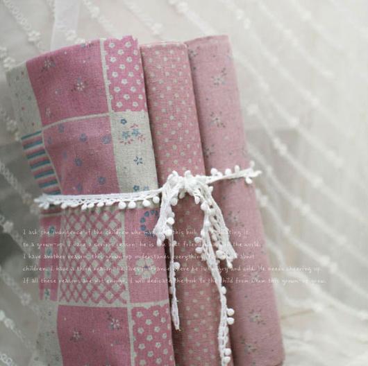 Шитье ручной работы. Ярмарка Мастеров - ручная работа. Купить ткань Розовый. Handmade. Ткань для кукол, ткань для Тильды
